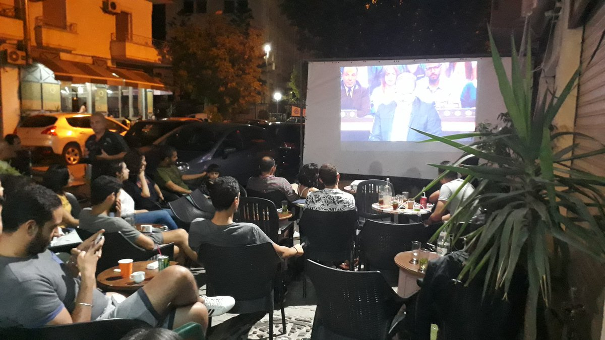 As we used to gather to watch football, tonight we're gathering to watch electoral debates in our favourite coffeeshop  #TnElec2019<br>http://pic.twitter.com/25PZkQFBy2