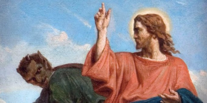 No wonder @s8n is pissed. Here's Jesus threatening to shoot him. https://t.co/elBmdmIwT7