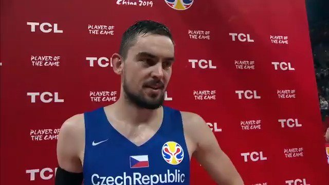 """""""I know what this team can do and I think we showed it today.""""  @satoransky on defeating Brazil and @ceskybasketbal (3-1) strong play during the #FIBAWC. #CzechRepublicGotGame"""