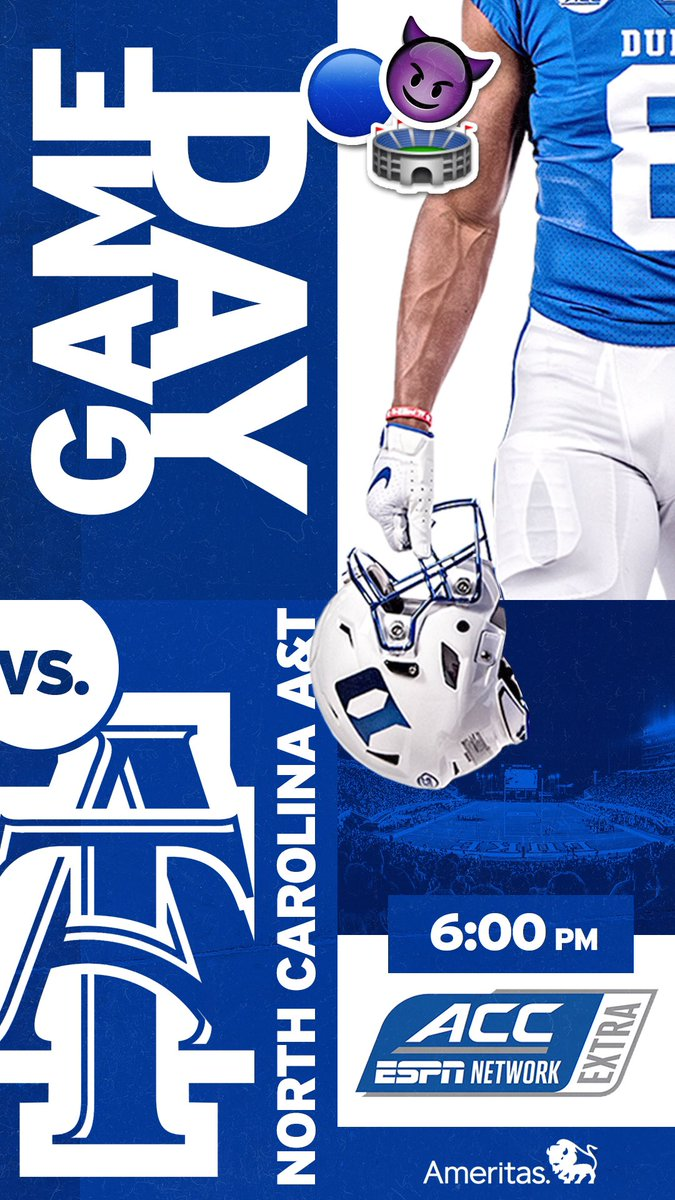 🏈 is back at Wallace Wade. Happy game day 😈