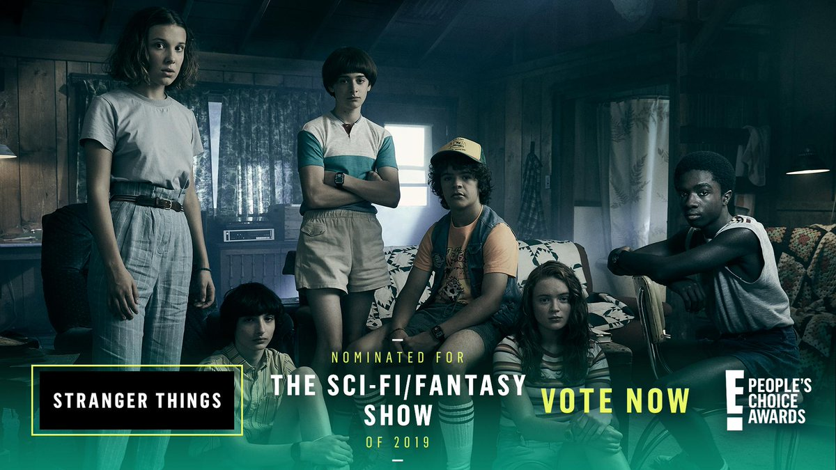 RT to vote for #StrangerThings as #TheScifiFantasyShow of 2019 now! #PCAs