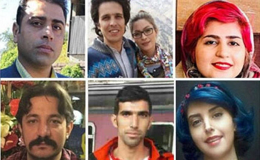 Iran sentences labor rights leaders and protester to total of 110 years prison; from 6 and 14 years each to 18 years for some of them.