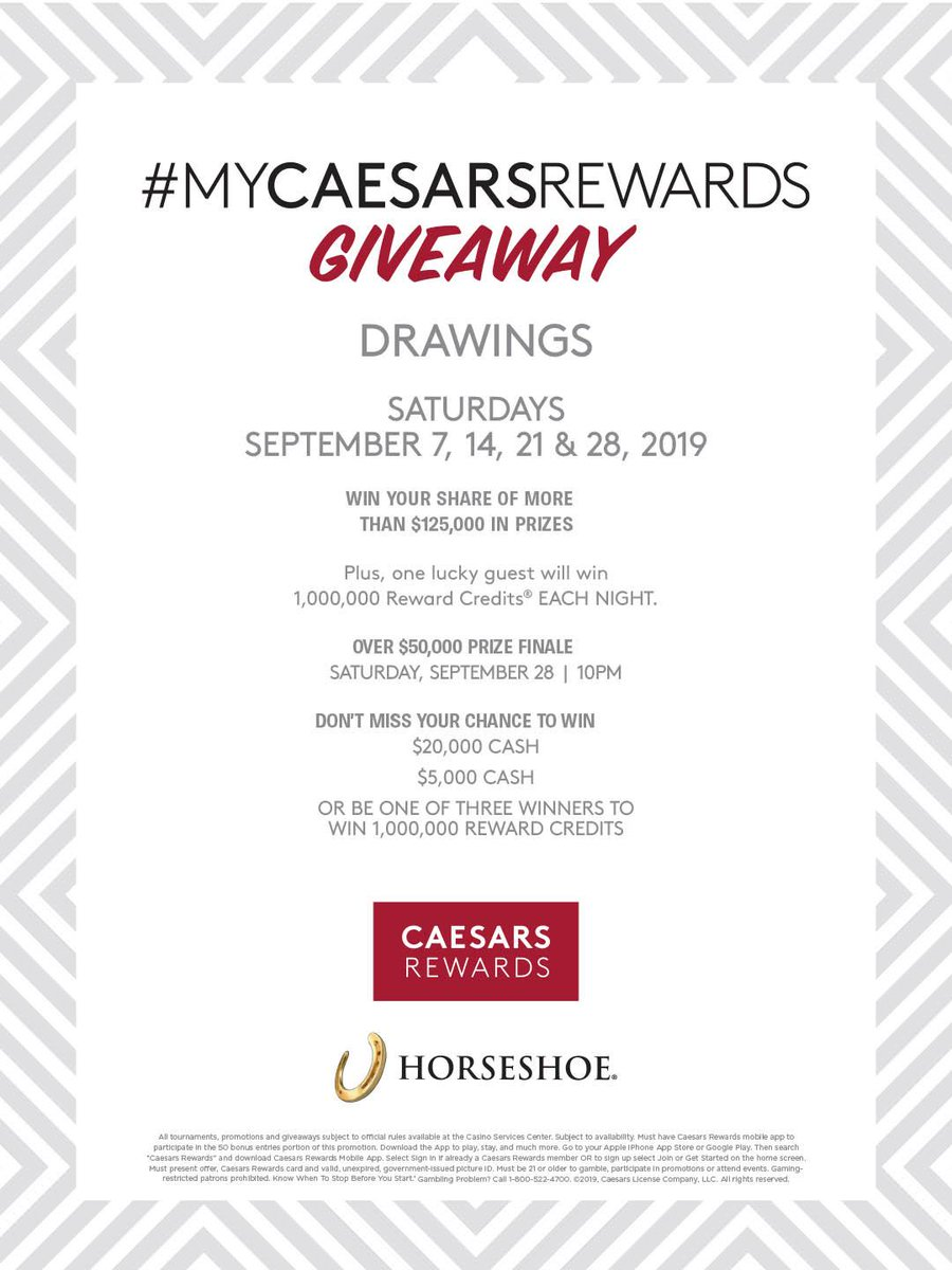 Join us today! #MyCaesarsRewards #Giveaway