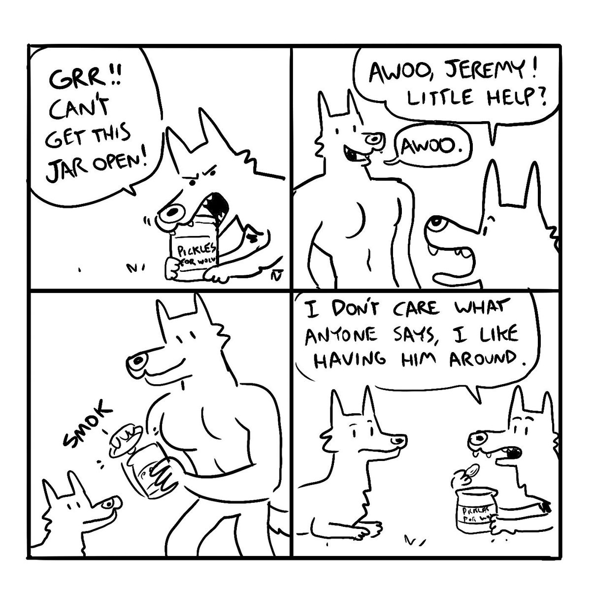 a comic for all my new muscular furry followers