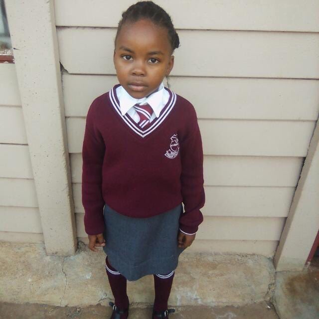 Please Retweet: Kgothatso Molefe (7) has been missing since 24th July. She was last seen in a grey uniform along Mokgethi str in Tlhabane, Rustenburg getting into a car with 2 men after one man called her & gave her a chocolate. If seen contact: 0810884749/0145655017