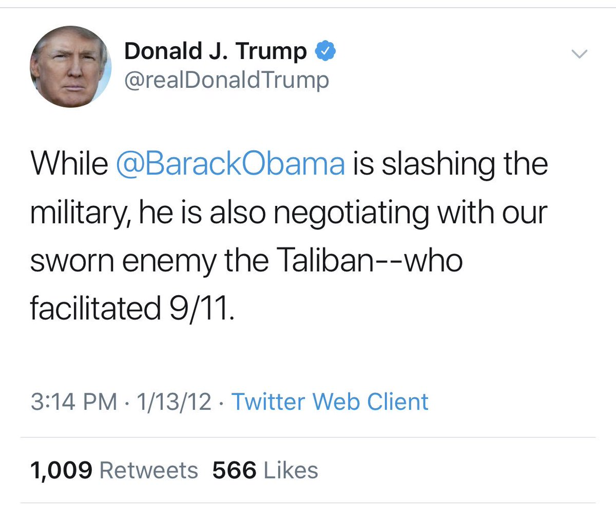 Reeling Twitter Critics Cannot Believe Trump Invited The Taliban To Camp David