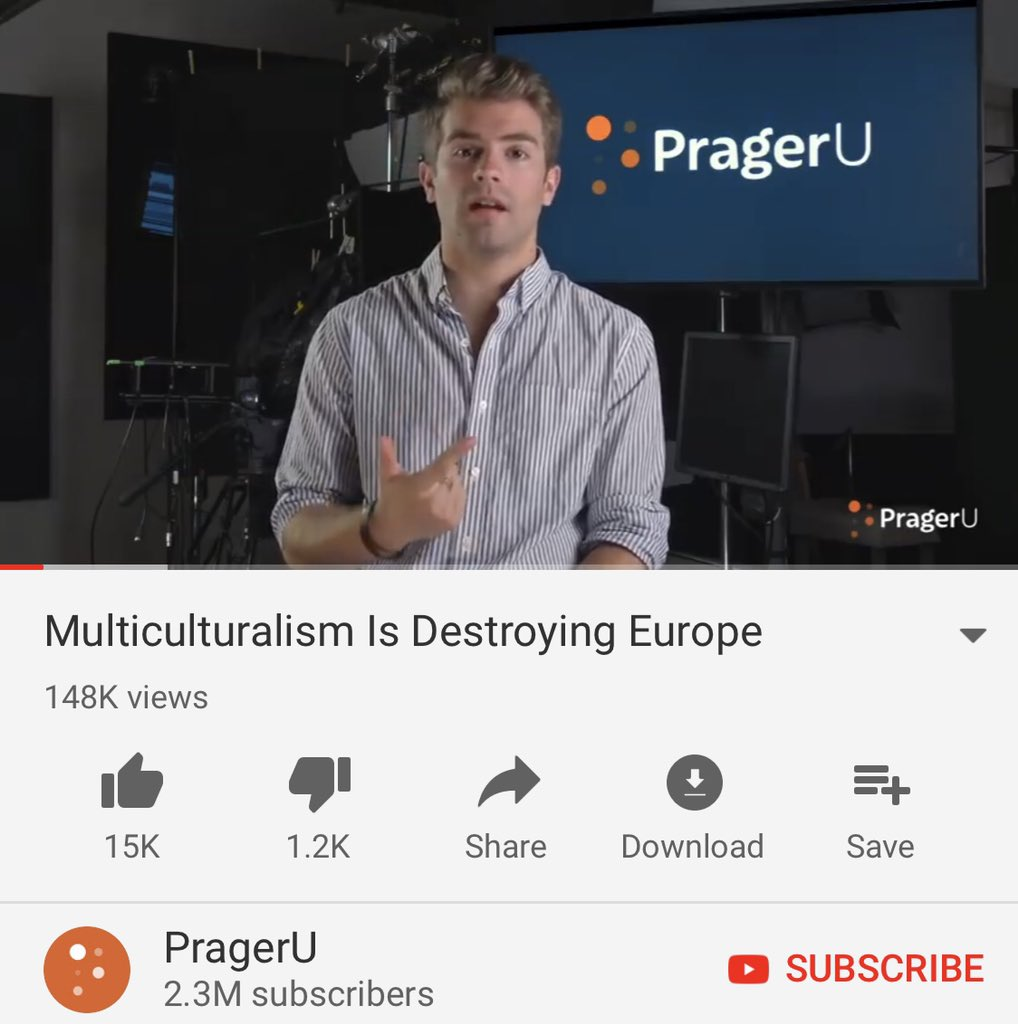 That PragerU video full of neo-nazi propaganda has been on @YouTube for 9 months and has 150k views: