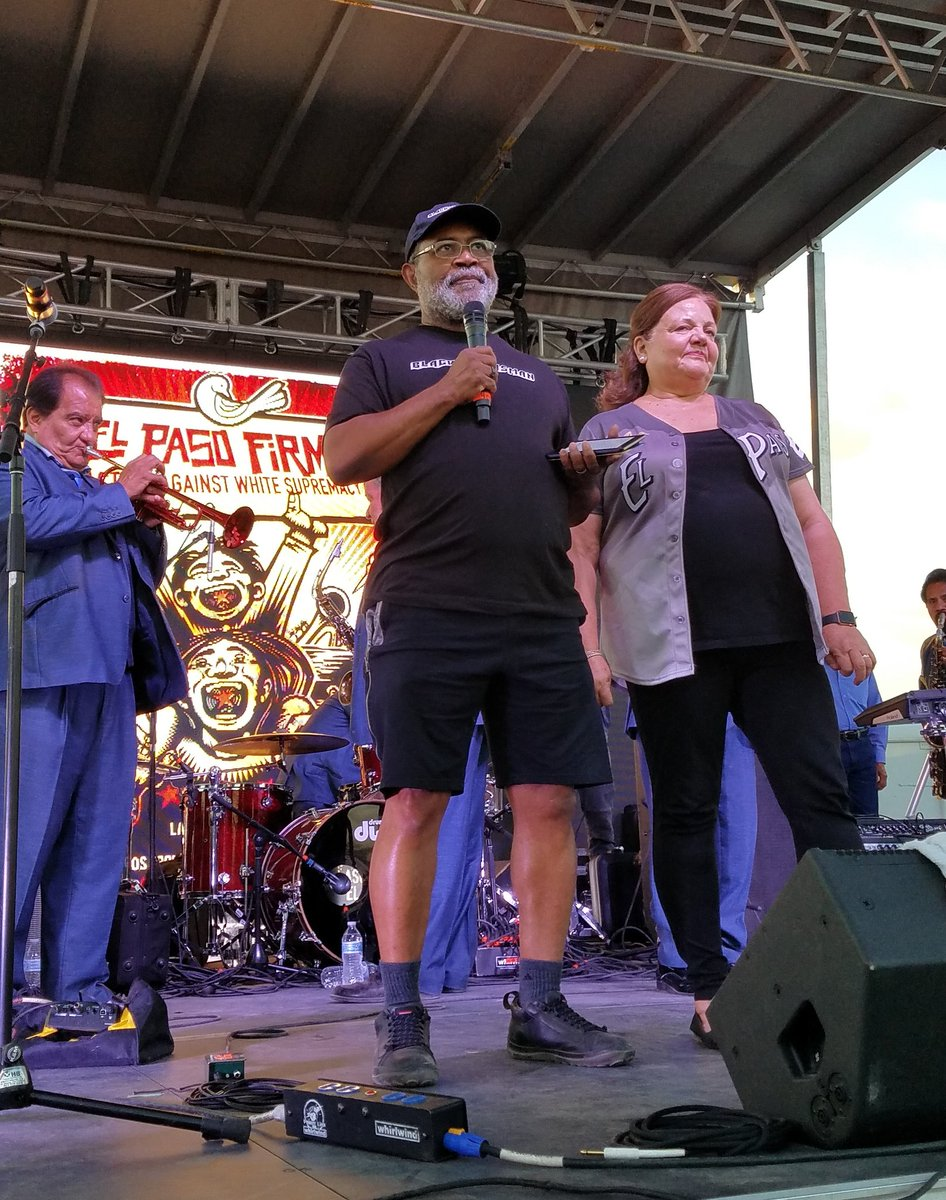 Ron Stallworth delivered a powerful speech on the need to take action against #whitesupremacy at #ElPasoFirme. Ron infiltrated the ranks of theKKKin Colorado in the late 1970s. The 2018 film The@BlacKkKlansmanis based on his experience infiltrating the KKK.<br>http://pic.twitter.com/m75SK0XyTi