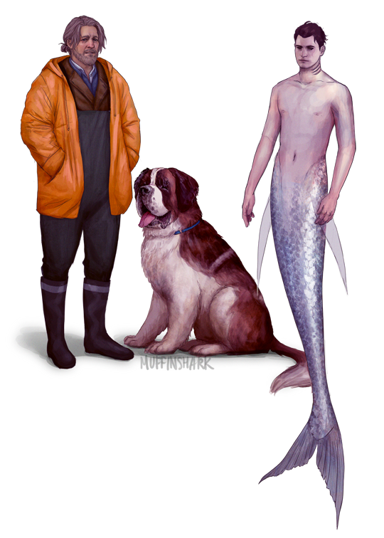 a dumb au that started out as a joke for MerMay but that i'll probably draw more of bc it hits my childhood obsession w/ drawing fish people just right <br>http://pic.twitter.com/ewBCw579Dp