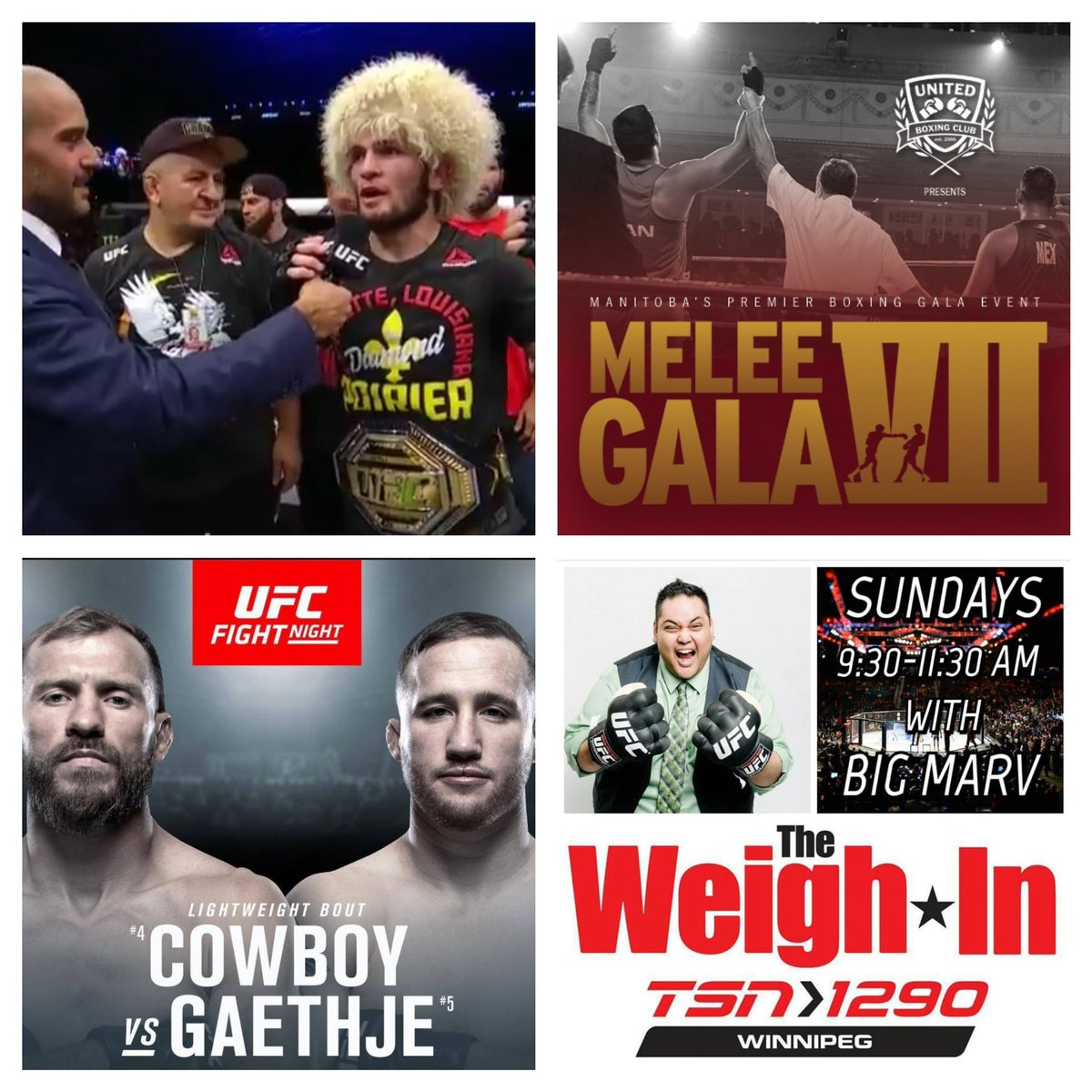 We're BACK tomorrow! -covering all from #UFC240 to #UFC242.   -United Boxing Winnipeg will be in to talk #MeleeGalaVII  -preview of #UFCVancouver!   @Windog0101 from #IceTimeSports joins @BigMarv204   TOMORROW at 9:30am CT on @TSN1290Radio & #iHeartRadio