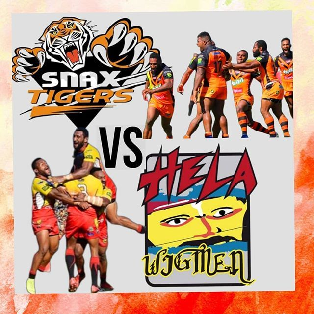 Grand Final Game Day.  Lae Snax Tigers Vs Hela Wigmen. Who you Got?? . . . #laesnaxtigers #helawigman  #grandfinale #rugbylife #grandfinalherewecome  #rugbyleauge #grandfinal #prilaga #grandfinals #rugby#grandfinalist #grandfinalday #rugbylove #rug… https://ift.tt/2ZGROwcpic.twitter.com/Qh7akhowCg