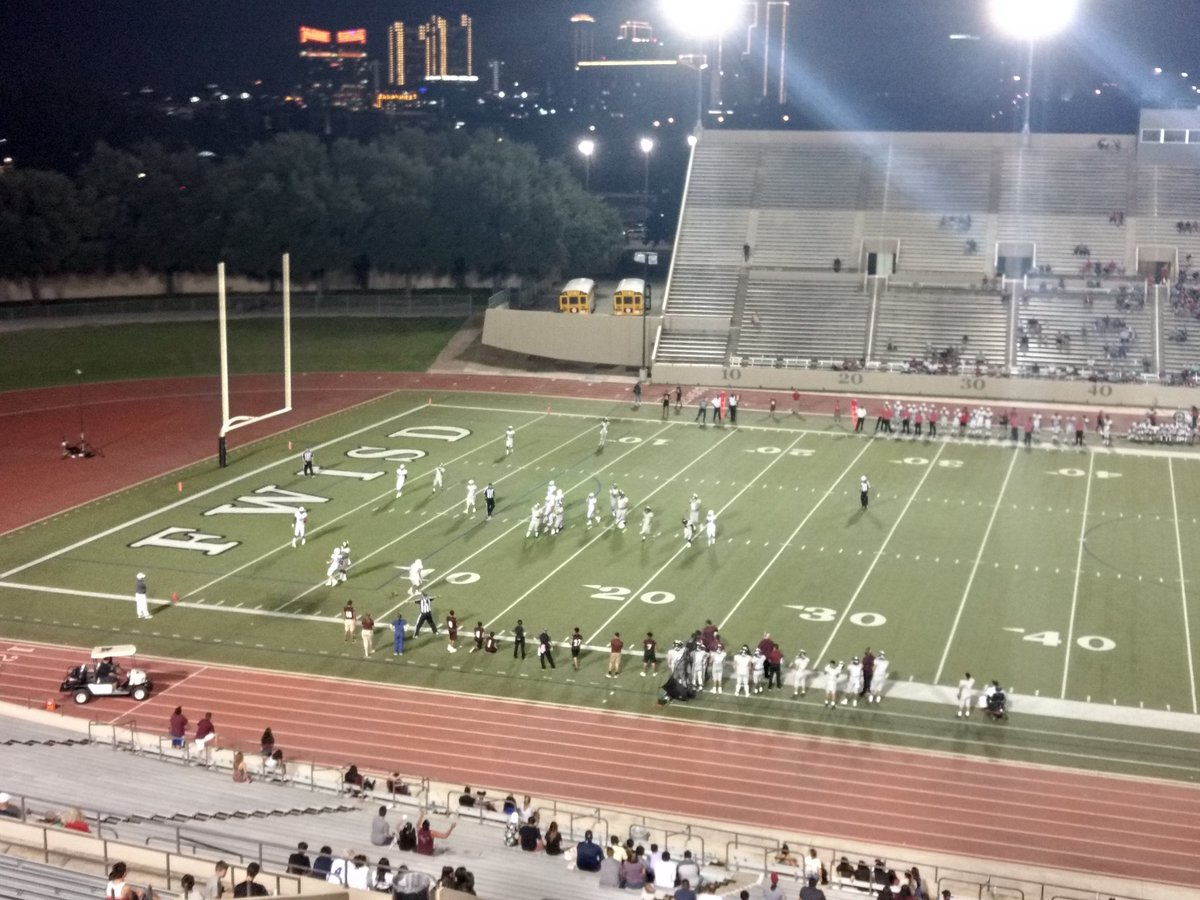 Saturday night Football at Farrington in Fort Worth... North Side hosting Castleberry