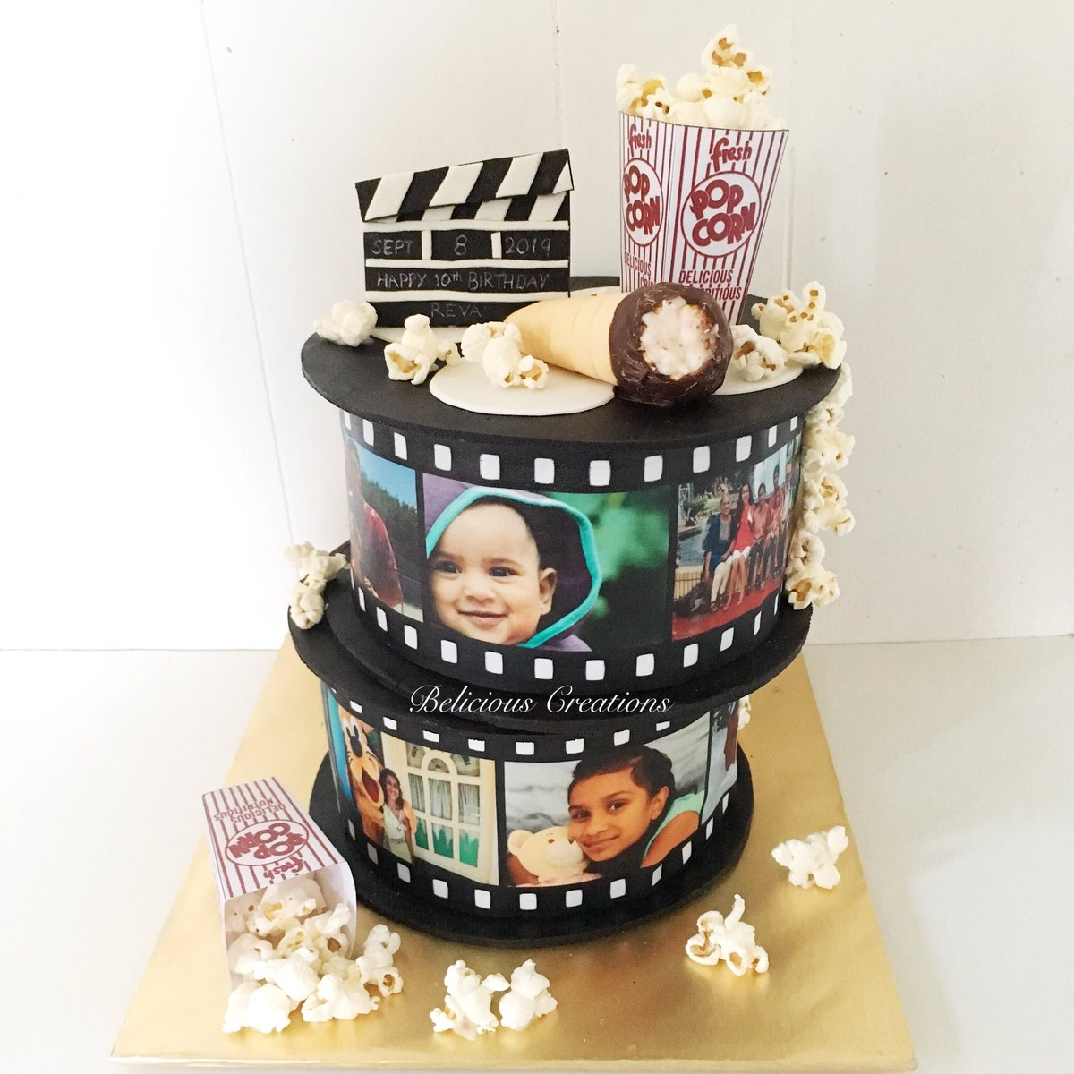 Marvelous Belicious Creations On Twitter A Film Roll Themed Birthday Cake Funny Birthday Cards Online Alyptdamsfinfo