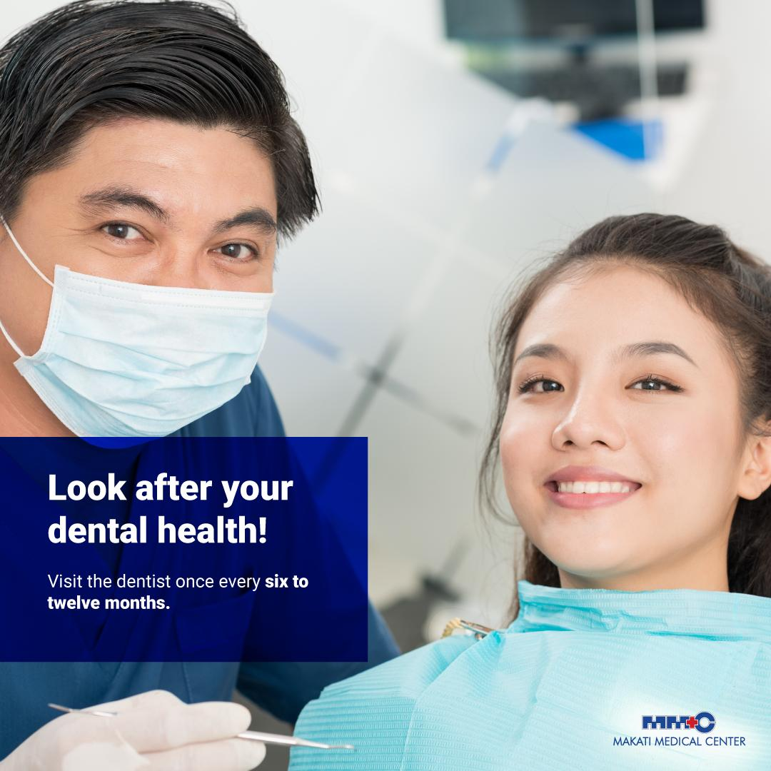 Practice good oral and dental hygiene every day for a healthy smile! Visit our dentists for checkups and cleaning! #MakatiMedOfficial #YourHealthMatters