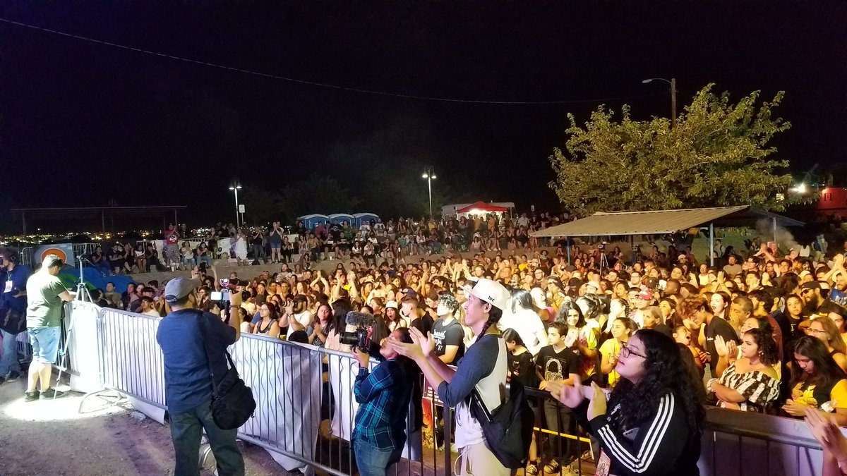This is what love, courage, and community look like! Children, teenagers, entire families, and people from as far as Phoenix, Los Angeles and New York are dancing and healing at #ElPasoFirme!  We are resilient! We are strong! We are unstoppable! <br>http://pic.twitter.com/MrzP1egePI