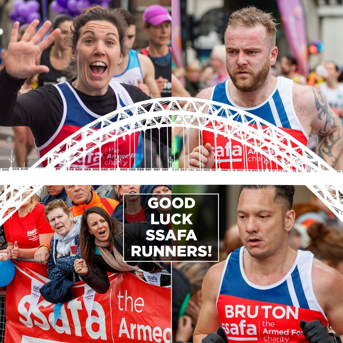 75 wonderful runners are taking part for @SSAFA in the #GreatNorthRun this morning. Their efforts will make such a difference to our vital work. Can you take a minute to give them some appreciation below? They'd love to hear from you! #GNR2019 #BeYourGreatest <br>http://pic.twitter.com/oGBaGPeS03