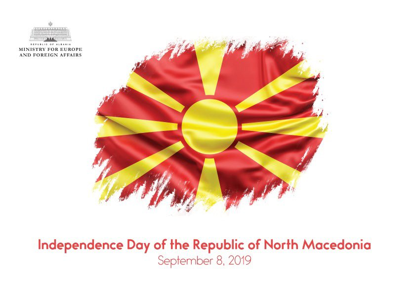 Warmest wishes to our neighbor and friend Republic of North Macedonia on the happy occasion of #IndependenceDay. We share common destiny in joining  and the goals of promoting peace, stability and prosperity for the region.    <br>http://pic.twitter.com/PvRYB7Dd8B
