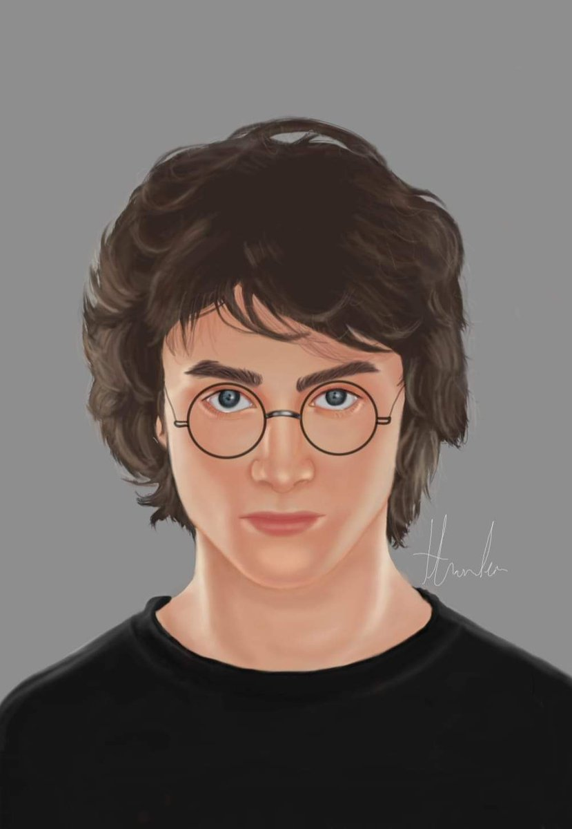 Digital painting progress   Harry Potter #fanart
