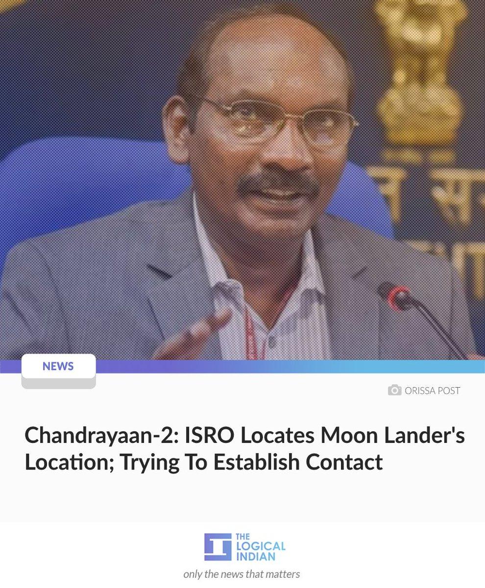 The #Chandrayaan2 Orbiter has sent thermal image of the #VikramLander identifying its exact location on the Moon, says #ISRO Chairman #KSivan. @isro has found out the exact location of the #VikramLander. #vikramlanderlandsmoon1/2