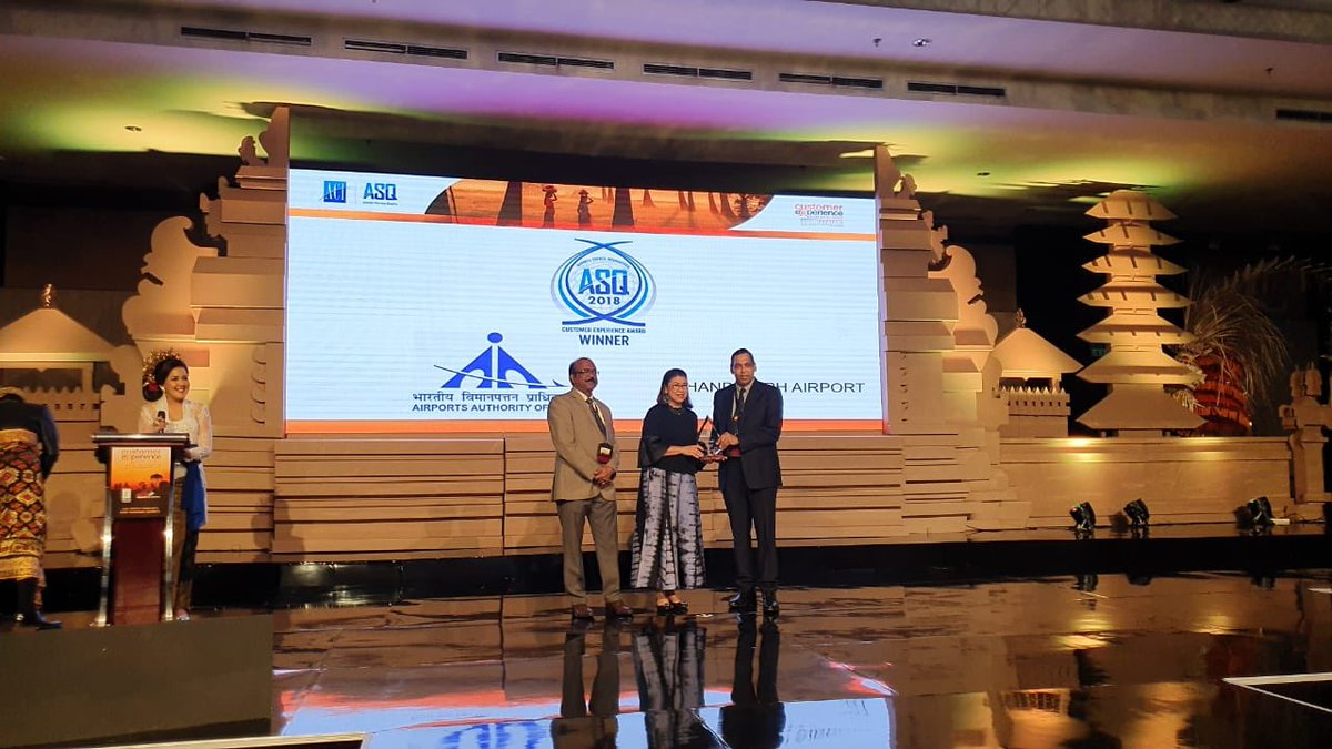 At ACIs Global Summit & Awards held in Bali, #AAIs @IXCairport, @aaibpiairport, @aaiidrairport & @aaisvpiairport won various top awards in 2-5 mln & 5-15 mln passenger pa categories, best env. & ambience, best customer service and best infra & facilitation. #ProvidingTheBest