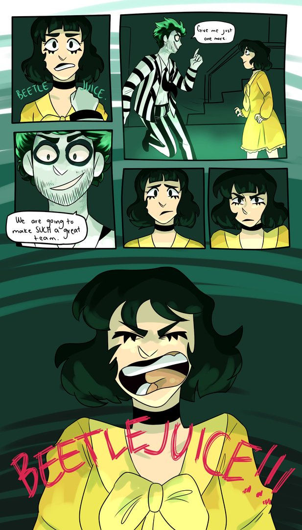 Beetlejuice On Broadway On Twitter Oh Boy Oh Boy Oh Boy This Fan Art Is So Good Thanks For Sharing Your Jaw Dropping Beetlejuicebway Comic Pyunisher Https T Co 4kidw9zdbi