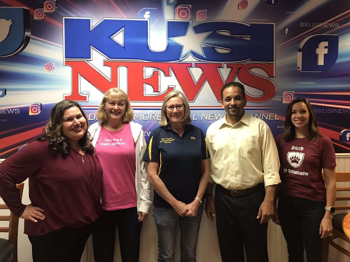 Our new County Teachers of the Year will be on KUSI in 2 mins! Tune in NOW!