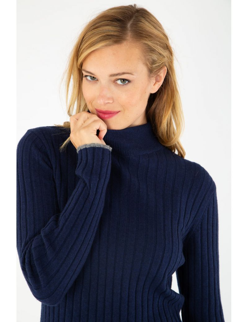 reasonably priced fashion exquisite style Pull col roulé Deauville Armor Lux pas cher prix Pull Femme ...