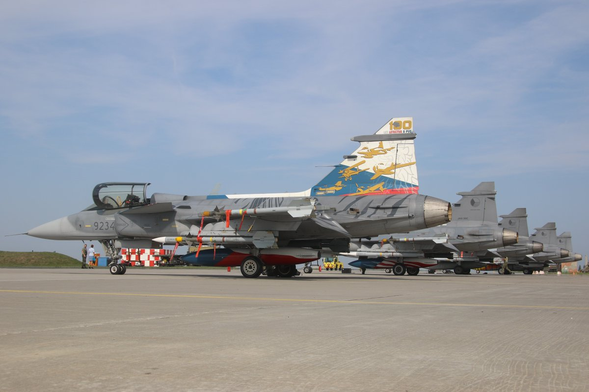 Czech Air Force has commenced its sixth deployment to protect the airspace of NATO allies. Five Gripen fighters will be based at Amari air base in Estonia during the four months long Baltic Air Policing Mission. #saabinthesky #NATO #airforce