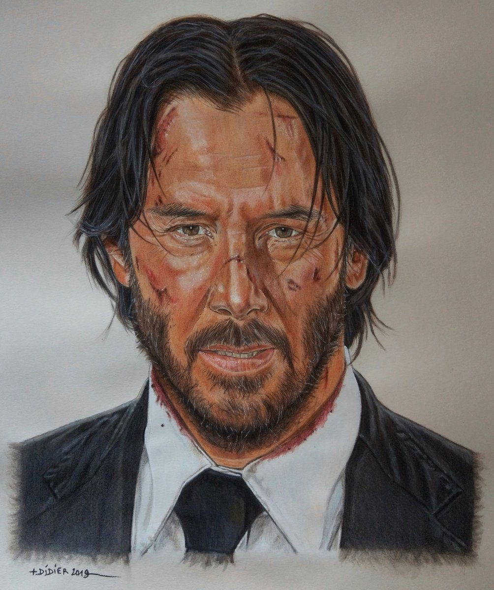 John Wick (Keanu Reeves)...  Finished drawing,  watercolor pencil  done  on a3 canson paper.   #johnwick #keanureeves #johnwickmovies #johnwickdrawing #portraitdrawing #coloredpencils #watercolorpencil #artworks #johnwickportraitpic.twitter.com/Sv54cwL3g7