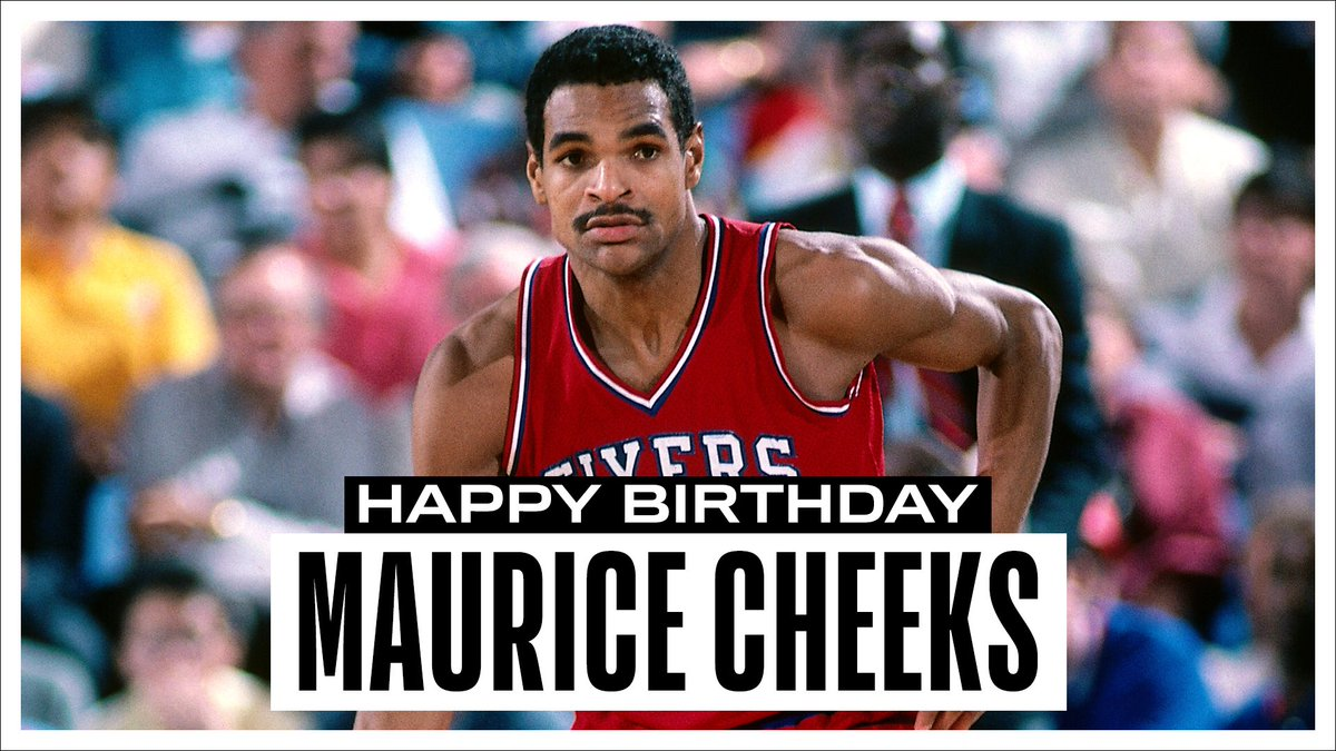 Join us in wishing a Happy 63rd Birthday to 4x #NBAAllStar & 1983 NBA Champion, Maurice Cheeks! #NBABDAY