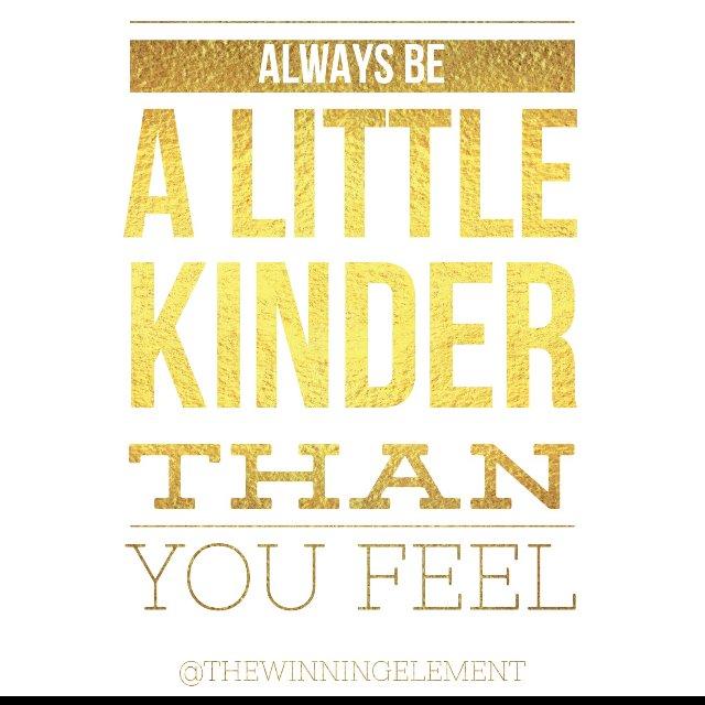 Always be a little kinder than you feel  #unstoppable #bethewinningelement #peakperformance #athletejourney #365athlete #sportsperformance #athletedevelopment <br>http://pic.twitter.com/Cz55D4VRfl