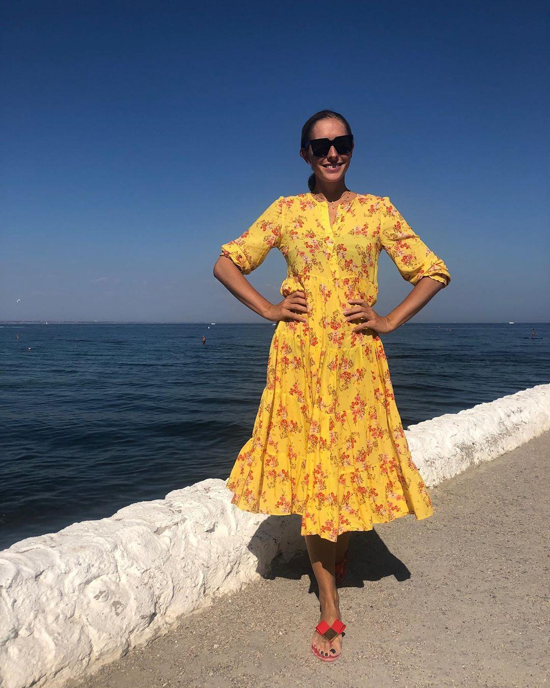 Катя Осачая в платье ZARA