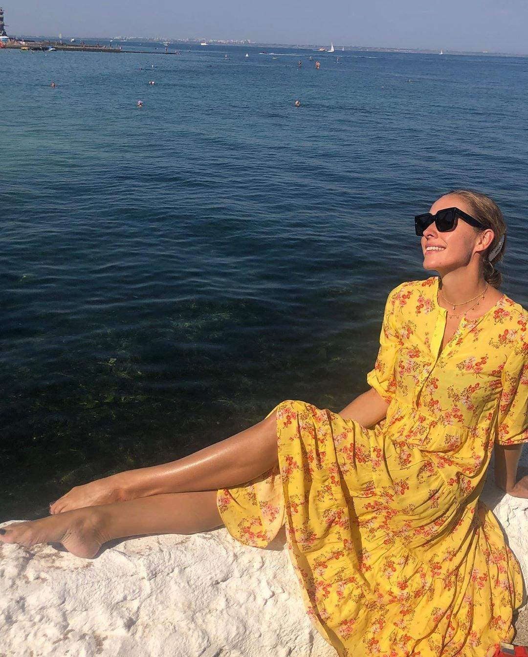 Желтое платье ZARA