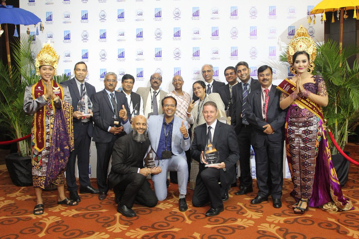 #AAI Western Region Airports have marked their presence in International front as #IndoreAirport & #AhmedabadAirport have received 3 awards in different categories at the recent #ASQ Awards organaised by ACI at Bali Indonesia .