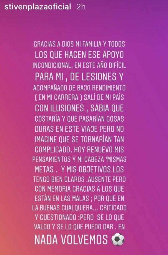 Mensaje de 'Instagram' de Plaza ofreciendo reivindicación personal en Valladolid