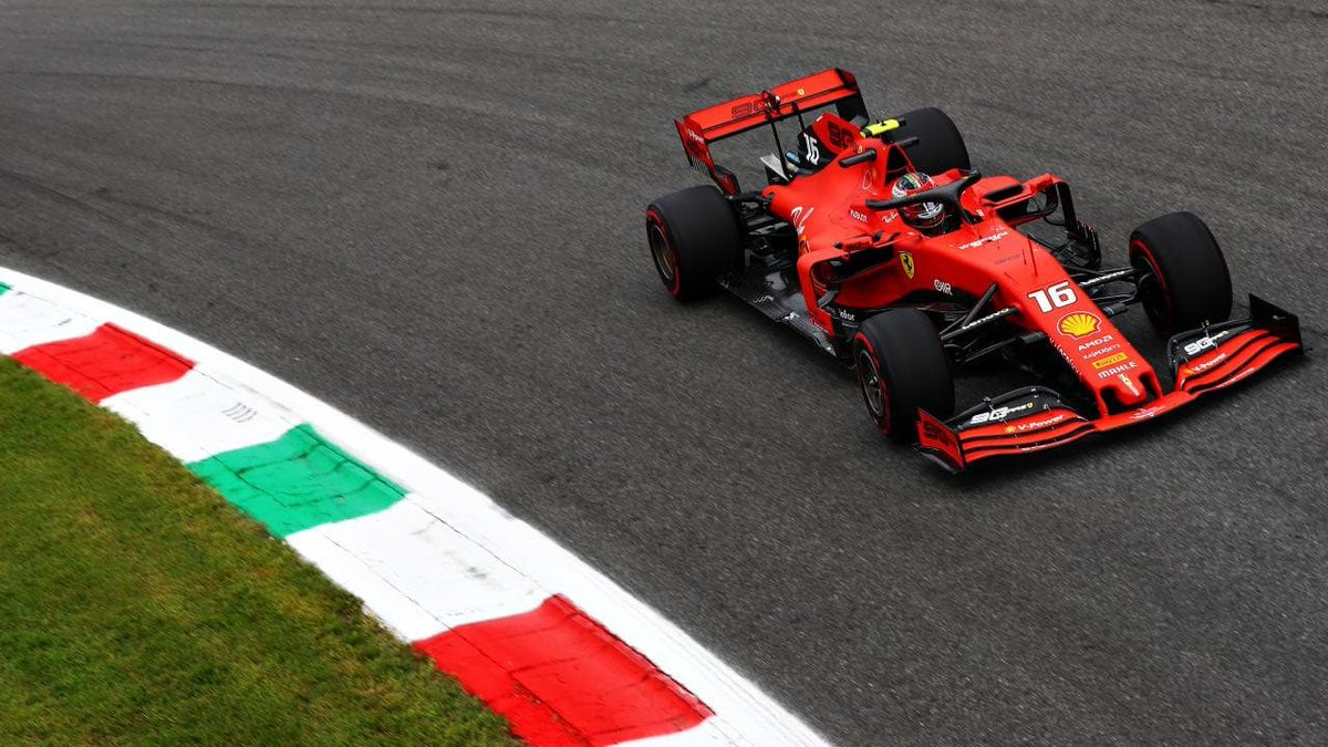 Charles Leclerc wins the #ItalianGP in front of the tifosi! 🏁🏎🇮🇹  That's 2 wins in a row for the Ferrari driver; will he make it 3 in Singapore? #F1