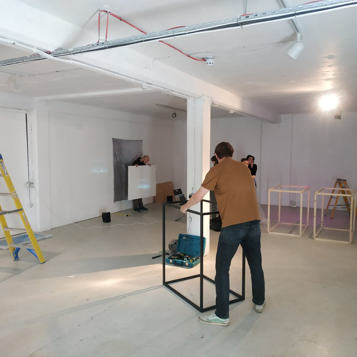 1st day installing for our upcoming exhibition: Swayze Effect opens this Thursday (12th Sep) with drinks from 6pm @PlatformSthwrk