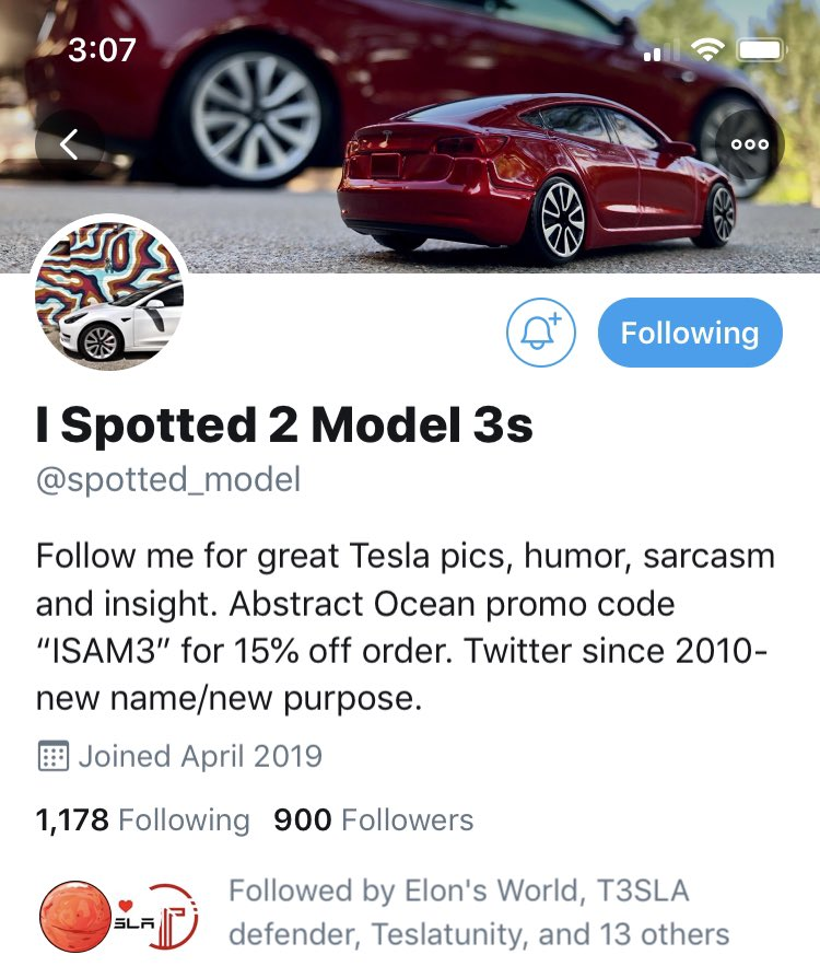 I Spotted a Model 3 on Twitter: