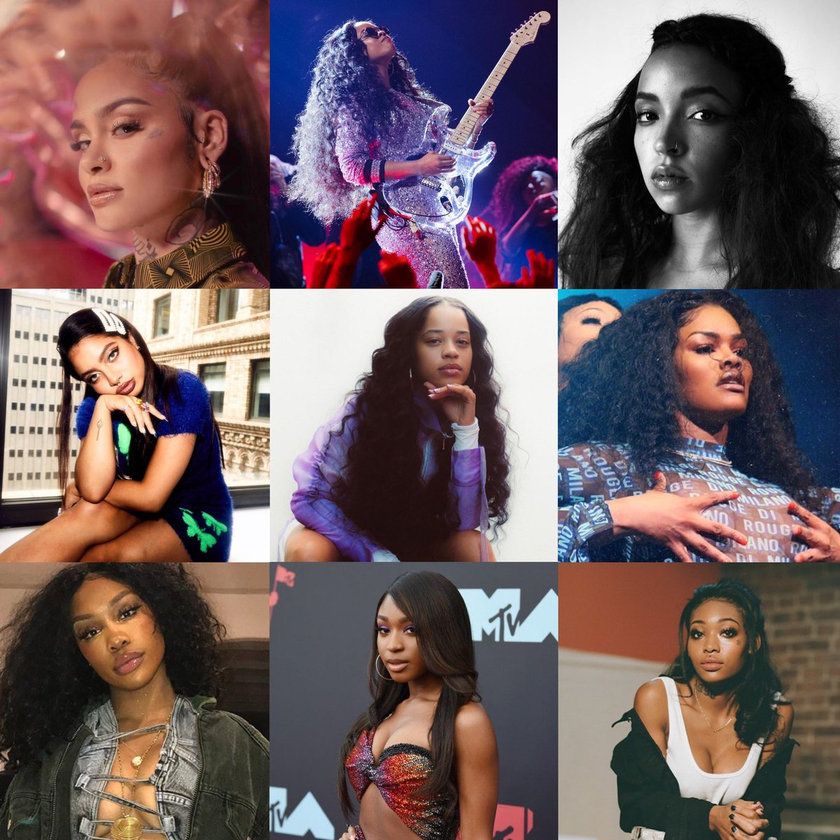 This new wave of R&B girls has truly blessed us the past couple of years. So much #BlackGirlMagic ✨✨✨  Kehlani • H.E.R. • Tinashe • Kiana Ledé • Ella Mai • Teyana Taylor • SZA • Normani • Summer Walker