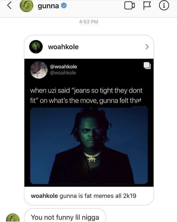 This dude trolled the fuck out of Gunna 🤣🤣🤣