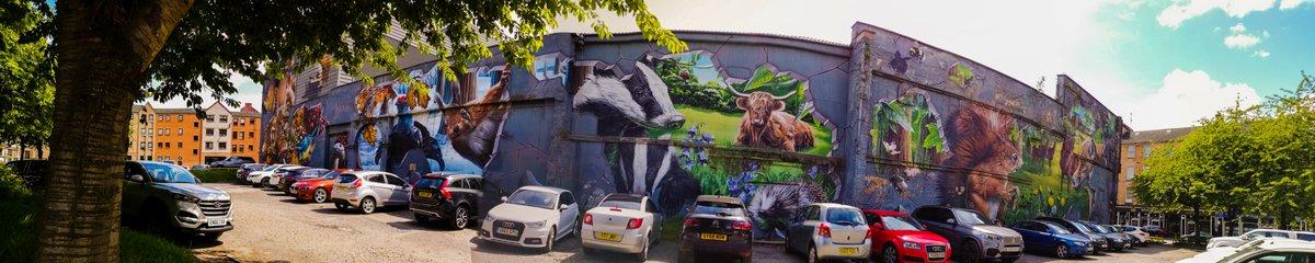 Large mural at the Ingram Street Car Park in Glasgow. Artist is named Smug.  #SMUG #SmugOne #StreetArt #Glasgow #IngramStreet