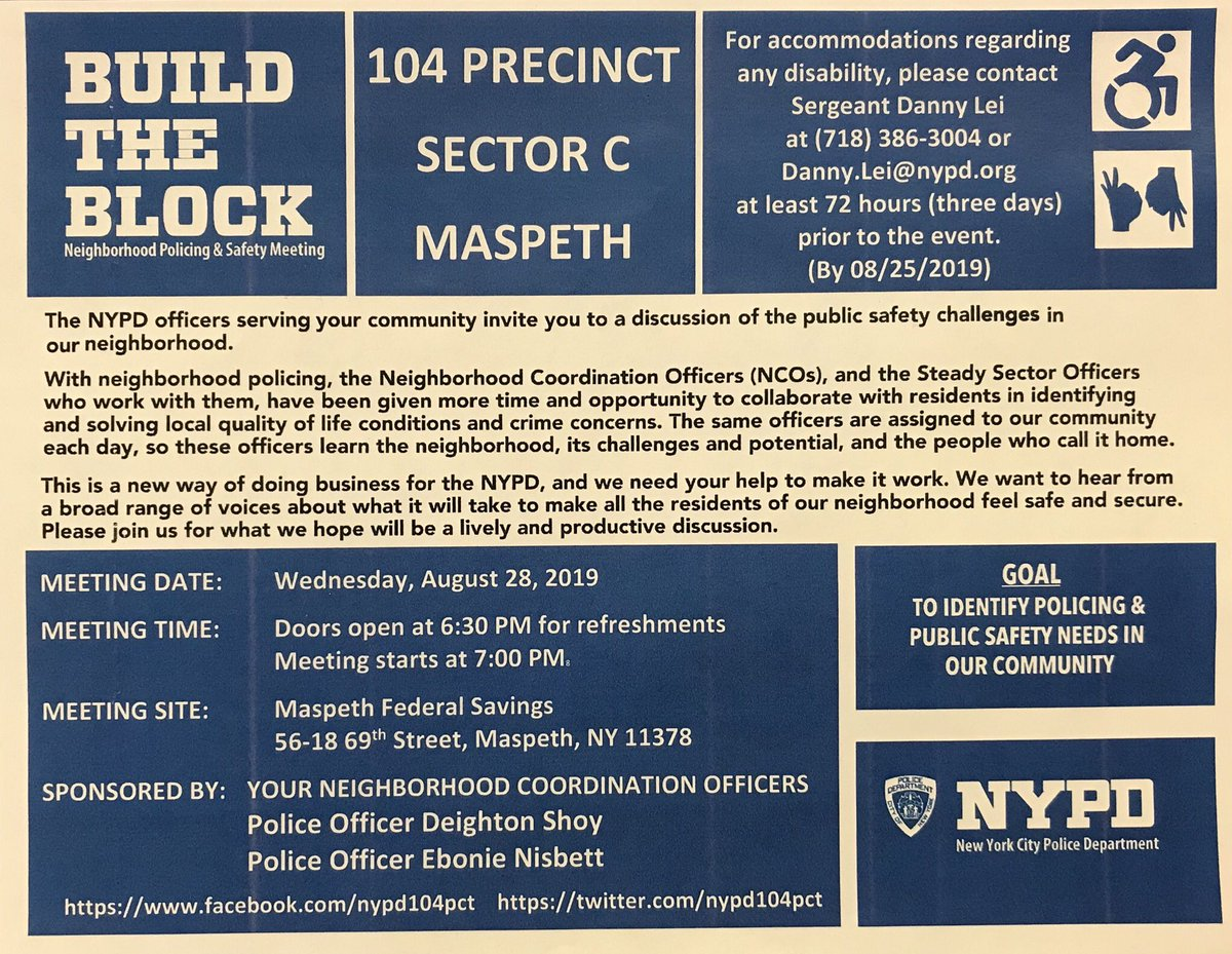 NYPD 104th Precinct (@NYPD104Pct) | Twitter