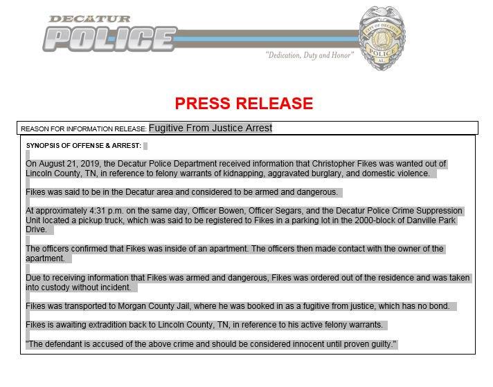 Decatur, AL Police (@DecaturALPD) | Twitter