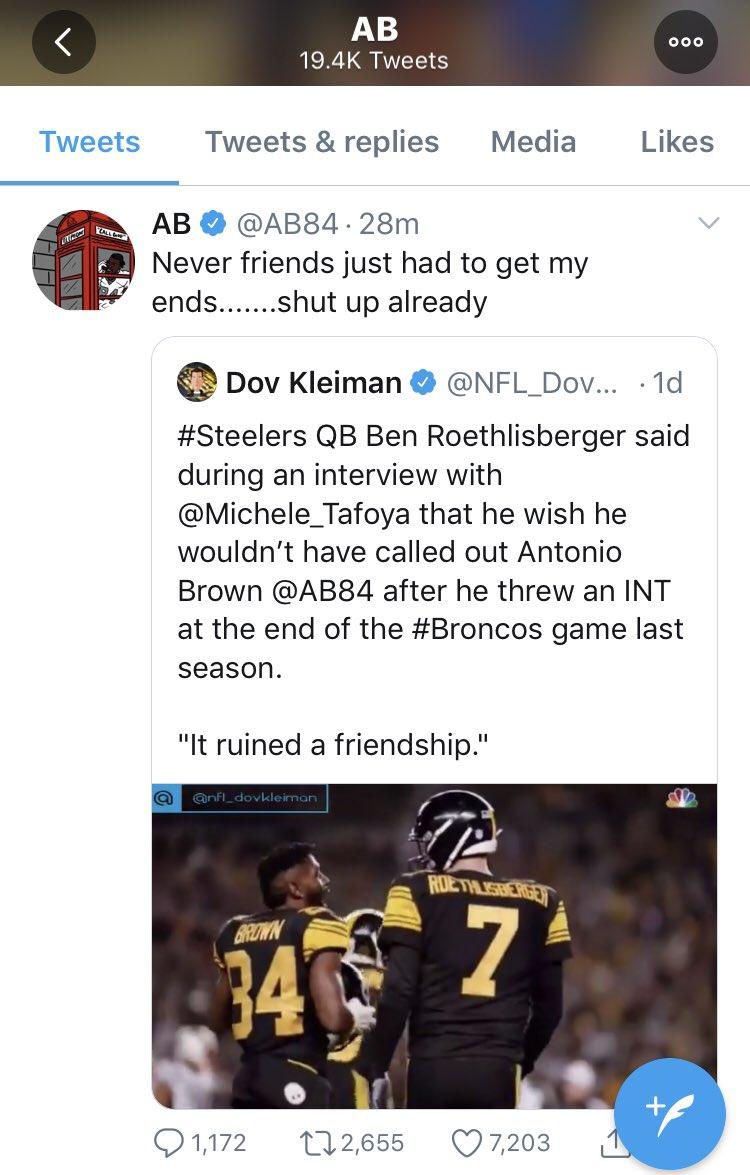 Chase Williams Wpxi On Twitter Antonio Brown Tells Ben