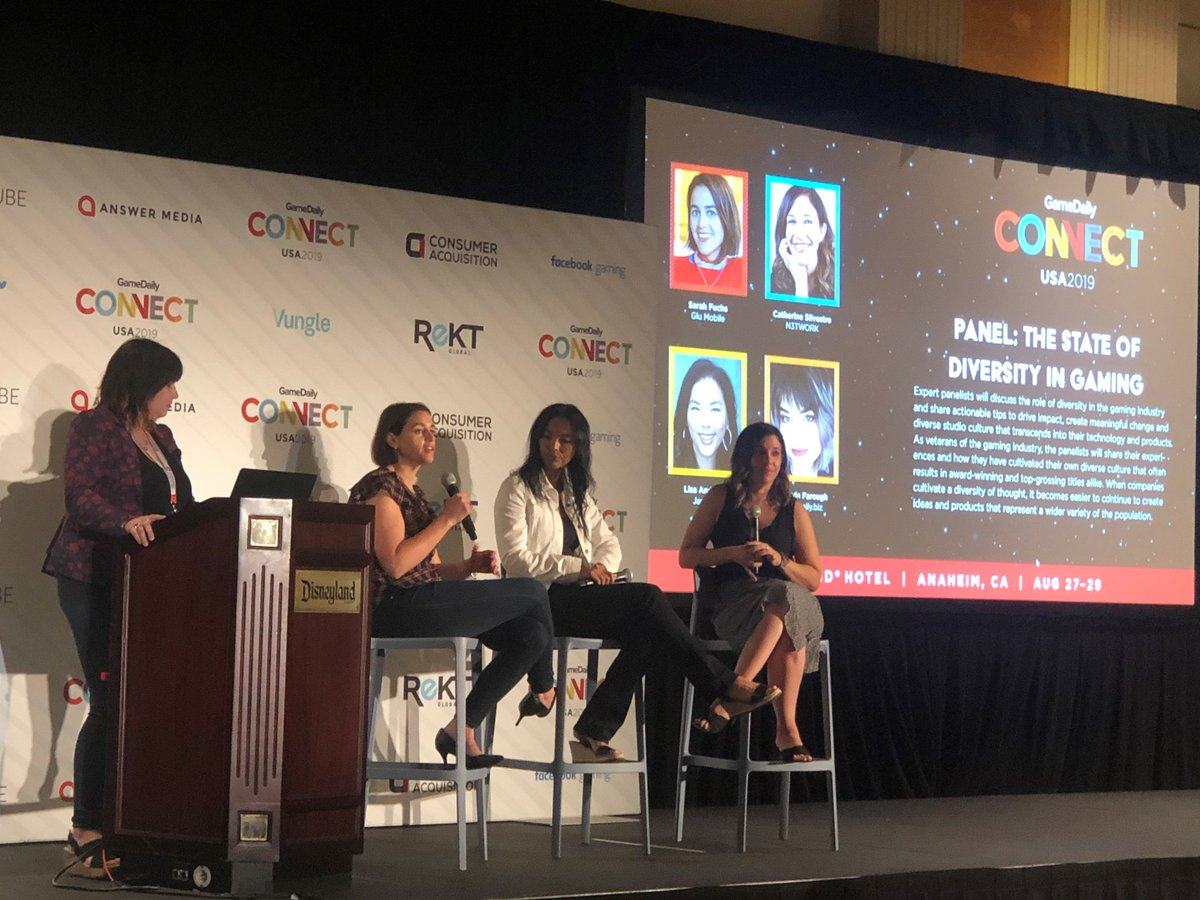 Covet Fashion VP & General Manager Sarah Fuchs discussed the state of diversity in gaming. Thanks for having us @gd_connect !  #GameDailyConnectUSA