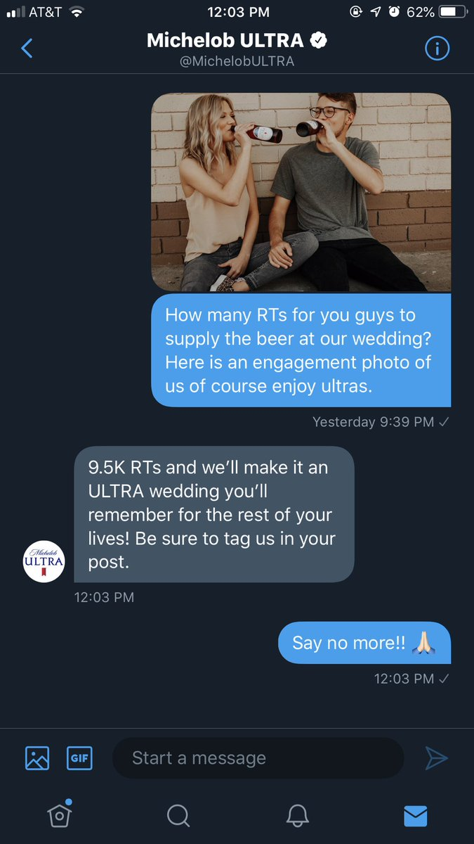Twitter, I will ask one time only if you make this happen.... PLEASE do your thing. @MichelobULTRA