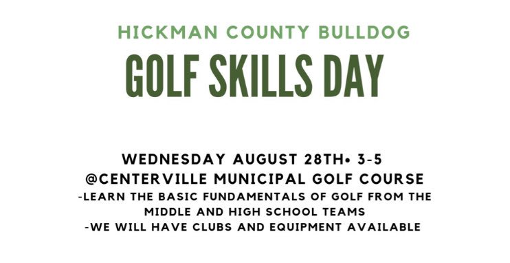 Looking forward to giving back tomorrow and encouraging our future golfers! Thanks to @Zachbentley34 and HCMS golf for all their hard work organizing this! https://t.co/m2dwRuMnrL