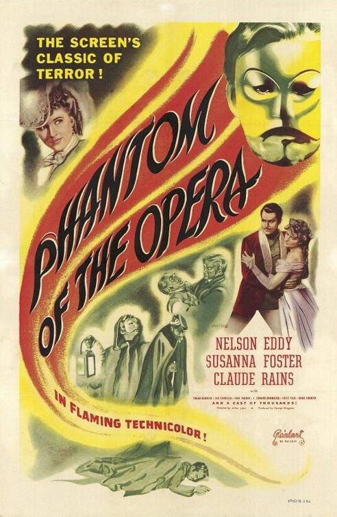 MOVIE HISTORY: 76 years ago today, August 27, 1943, the movie 'Phantom of the Opera' opened in theaters!  #ClaudeRains #NelsonEddy #SusannaFoster #EdgarBarrier #JaneFarrar #JEdwardBromberg #FritzFeld #FrankPuglia #FritzLeiber #StevenGeray #MilesMander #HumeCronynpic.twitter.com/qsWIbTkrIY