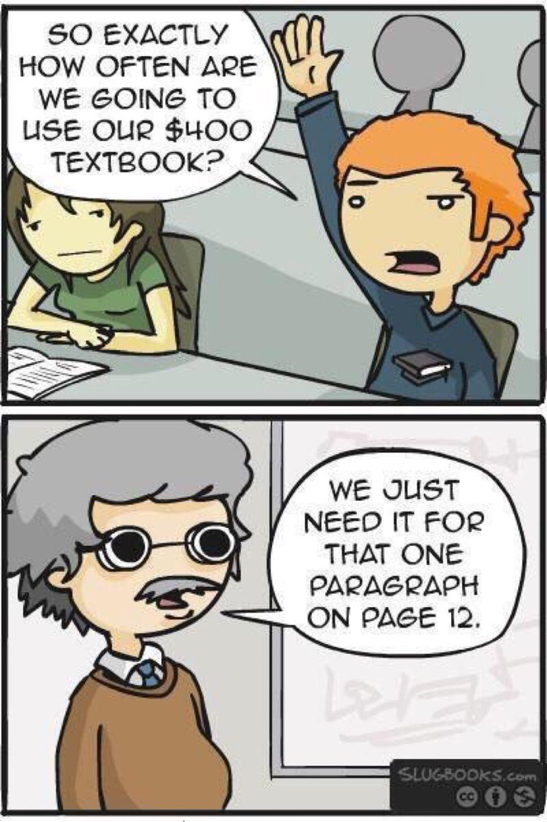 What college is like when you don't use slugbooks