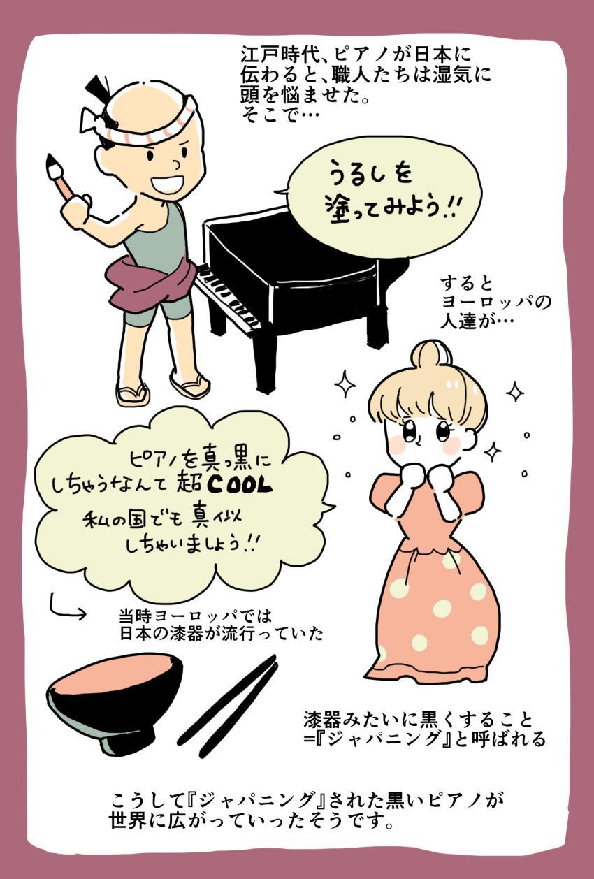 ピアノが黒いのは日本がきっかけ